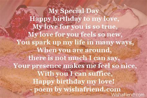 special day girlfriend birthday poem