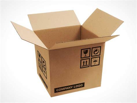 Free Corrugated Carton Box Packaging Psd Mockup