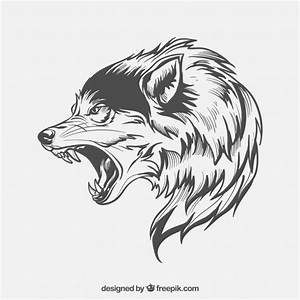 Wolf side-face Vector | Free Download