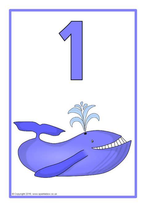 sea creature number posters   sb sparklebox
