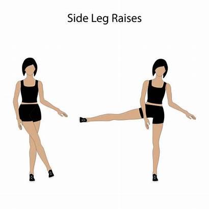 Leg Raise Clip Side Exercise Vector Raises