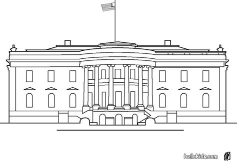 white house coloring pages hellokidscom