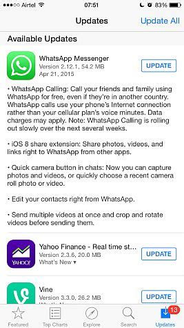 whatsapp voice calling for iphone starts rolling out technology news