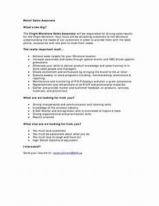 Resume For Sales Associate