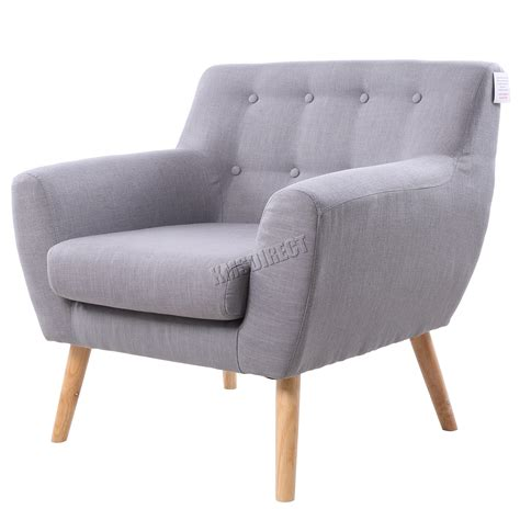A modern accent chair that doubles as a single sofa bed, this seat is a highly functional choice for a modern living space. FoxHunter Linen Fabric 1 Single Seat Sofa Tub Arm chair Dining Room SSSF-03 New | eBay