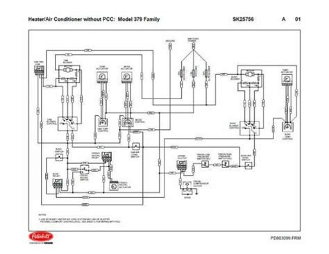 Pacar W900 Fuse Diagram 2001 by Peterbilt 379 Family Hvac Wiring Diagrams With Without Pcc