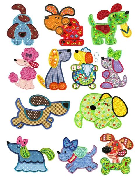 applique embroidery designs dogs puppy applique machine embroidery designs