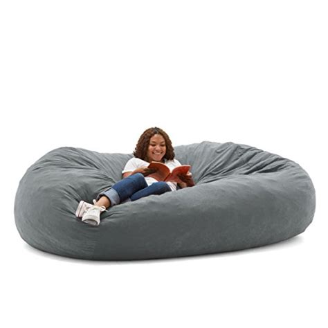 big joe fuf foam filled bean bag chair comfort suede
