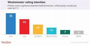 Voting Intention: Con 35%, Lab 25%, Lib Dem 16%, Brex 11% ...