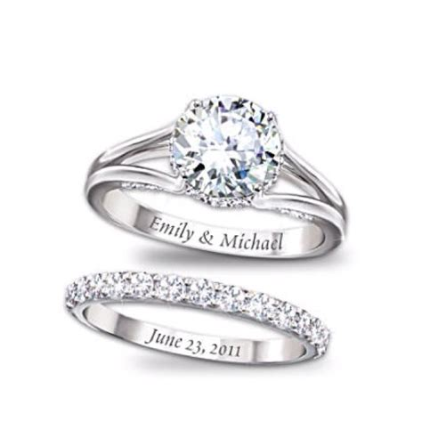 like the engraving like the band idea very simple and gorgeous future wedding