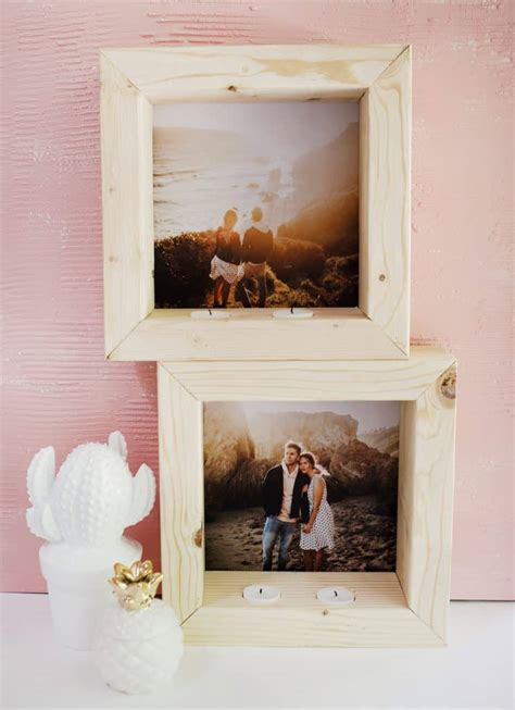 diy tea light photo frame  beautiful mess