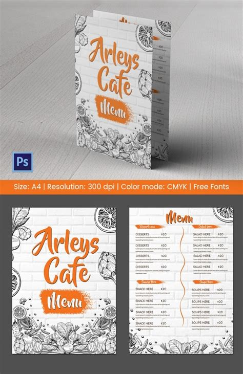 Coffee menu template in flat design style. Cafe Menu Template - 40+ Free Word, PDF, PSD, EPS, InDesign Format Download! | Free & Premium ...
