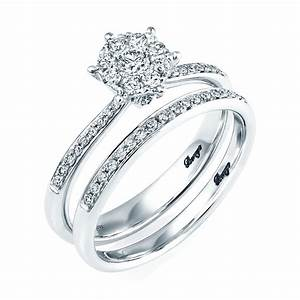 18ct white gold diamond bridal set rings from berry39s for Wedding ring sets uk