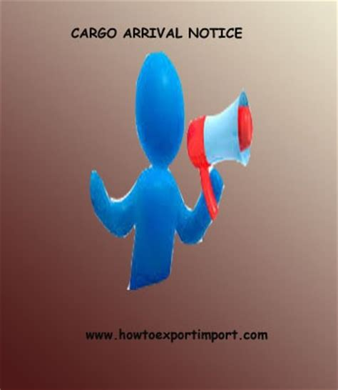 cargo arrival notice   facts