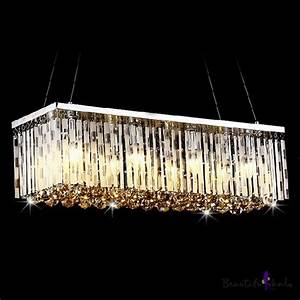 Wide pendant chandelier adorned with graceful crystal