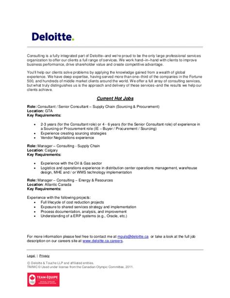 Deloitte Resume Tips by Deloitte Canada Strategy Operations