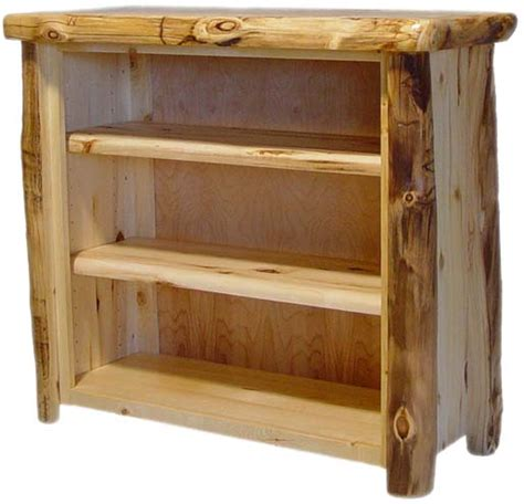 Log Bookcase by Williams Log Cabin Furniture Bookcases
