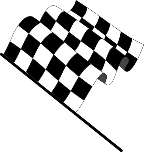 Download vector files of all national flags for free. Wavy checkered flag (98724) Free SVG Download / 4 Vector
