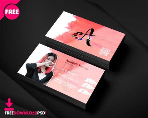 artist business card psd template freedownloadpsdcom