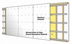 Acoustically Treated Wood Stud Wall