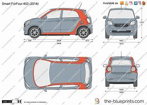 Smart Forfour 453 Vector Drawing