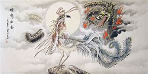Dragon and Phoenix - Chinese dragon painting