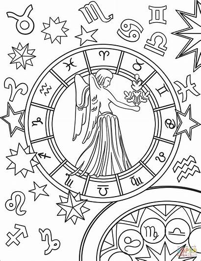 Virgo Zodiac Coloring Pages Sign Signs Printable