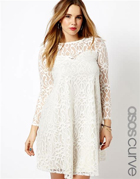 asos curve swing dress lyst asos exclusive swing dress in baroque lace in