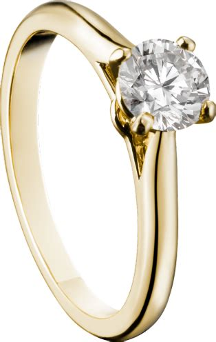 crn  solitaire ring yellow gold diamond