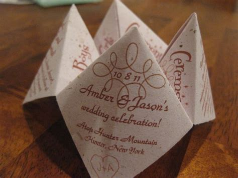 awesome cootie catcherfortune teller ceremony programs