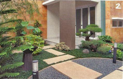 gambar desain taman halaman depan rumah desain taman