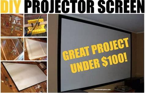 diy projector screen    dollars