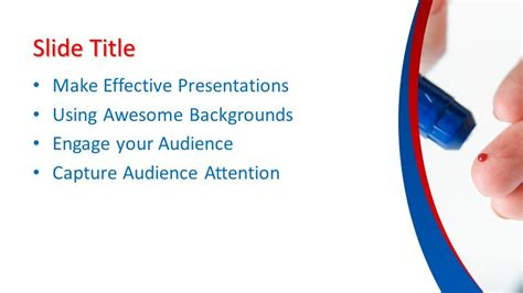 glucometer powerpoint template  powerpoint