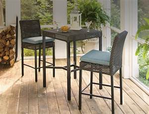 outdoor bar furniture the home depot With home depot high top patio furniture