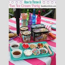 How To Throw A Fun Ice Cream Party  Posts, Easy Decorations And Best Ice Cream