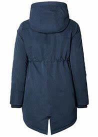 Cosy Hooded Maternity Parka In Night Blue By Esprit