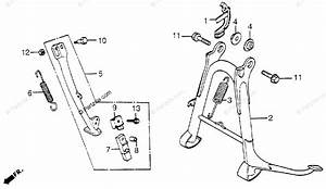Honda Motorcycle 1983 Oem Parts Diagram For Main Stand    Side Stand
