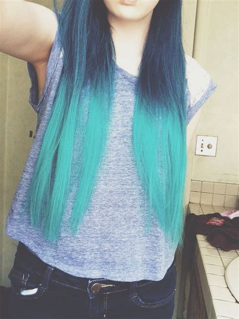 Cool Hairstyles For Ombre Hair by Ombre Teal Blue Pretty Gorgeous Awesome Amazing