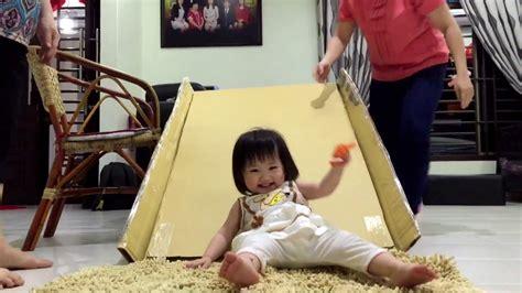 Diy Recycle Cardboard Slide Youtube