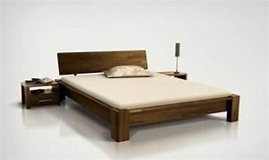 Lit Bois Massif Design Pour Chambre A Coucher Adulte