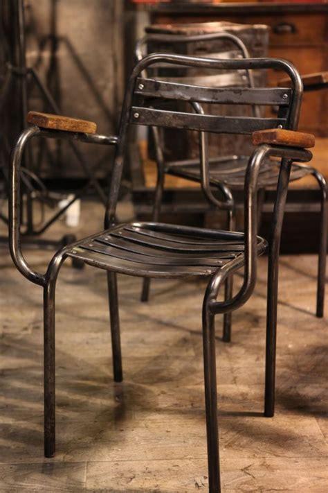 mille et une chaise fauteuil chaise ancienne en metal brut deco loft loft