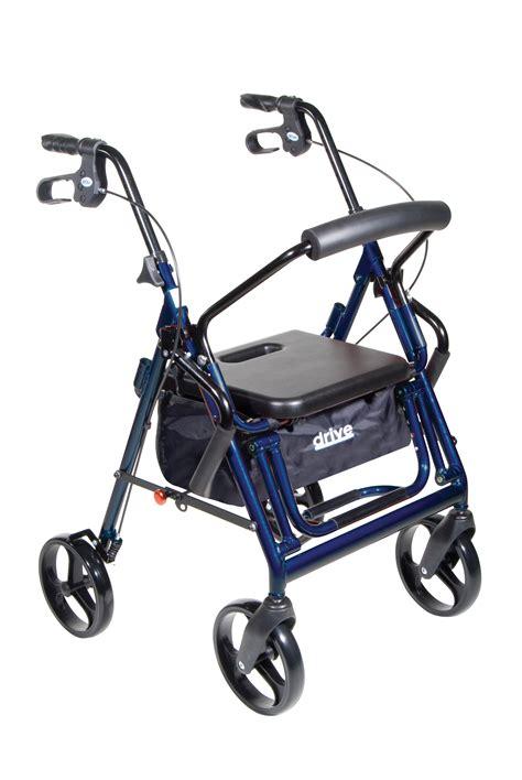 blue transport chair wheelchair rollator rolling walker