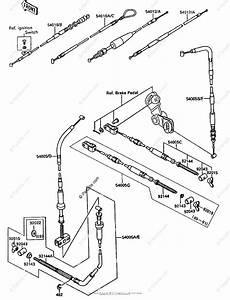 Kawasaki Atv 1991 Oem Parts Diagram For Cables