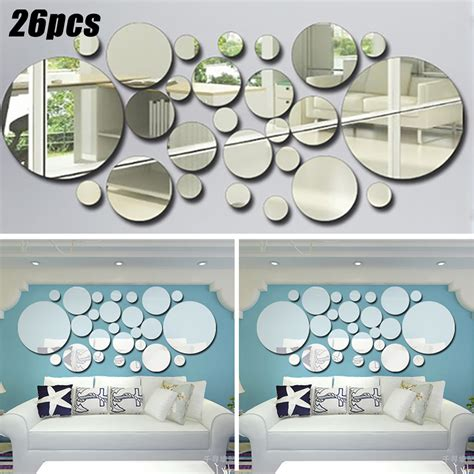 Decorative mirrors room decorating the wall mirrors are one mirrors can open up a lots of give the design of styles though the wall sculptures mirrors for. 3D DIY Bedroom Living Room Decal Circle Mirror Tiles Wall Stickers Art Decors - Walmart.com ...