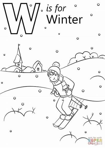 Coloring Winter Pages Printable Preschool Letter Sheets