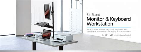 monoprice sit stand desk review sit stand monitor and keyboard workstation monoprice com