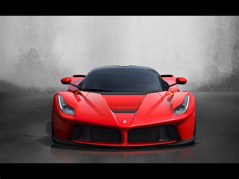 2013 Red Ferrari Laferrari Studio Vorne Hintergrundbilder