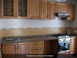 Placards De Cuisine : placard de cuisine en bois mobilier design d coration d ~ Carolinahurricanesstore.com Idées de Décoration