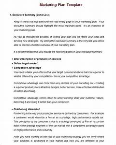 small business marketing plan template writing business With developing a marketing plan template