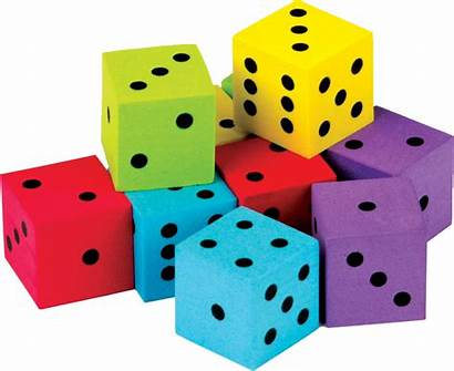 Dice Colorful Foam Pack Classroom Resources Walmart